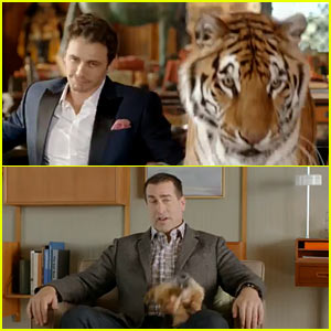 Ford Fusion Hybrid Super Bowl Commercial 2014 (Video) - James Franco, Rob Riggle, a Tiger, & a Yorkie!
