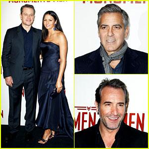 George Clooney & Matt Damon Bring 'Monuments Men' to Paris!