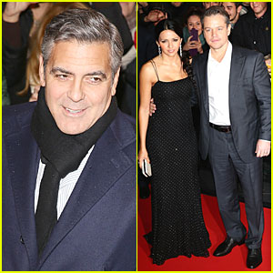 George Clooney & Matt Damon: 'Monuments Men' Milan Premiere!