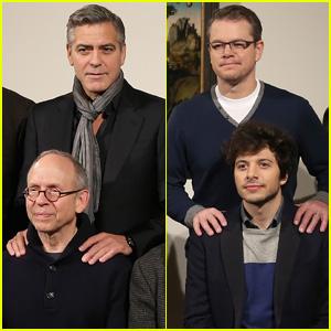 George Clooney & Matt Damon: 'Monuments Men' UK Photo Call!