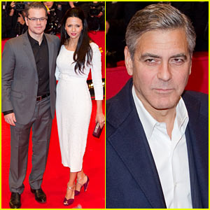 Matt Damon & George Clooney: 'Monuments Men' Berlinale Film Festival Premiere