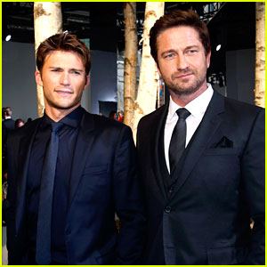 Gerard Butler & Scott Eastwood: Front Row Fun at Boss Show!