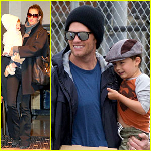 Gisele Bundchen & Tom Brady: Separate Coasts with the Kids!