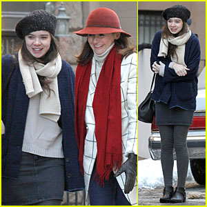 Hailee Steinfeld & Emily Mortimer Brave the Cold for 'Thousand Saints'!