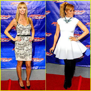 Heidi Klum & Mel B: 'America's Got Talent' Season 9 Photo Call!