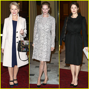 Helen Mirren & Uma Thurman: Dramatic Arts Reception with the Queen!