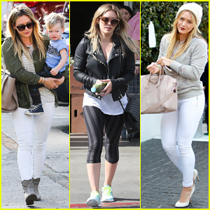 Hilary Duff: Beverly Hills Shopper with Son Luca!