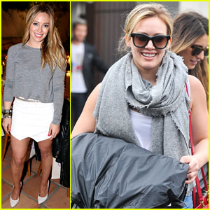 Hilary Duff Steps Out in Style as Mike Comrie Parties in NYC