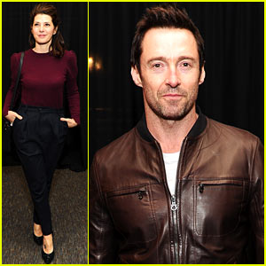 Hugh Jackman Supports Brooklyn's BAM Theater with Marisa Tomei!