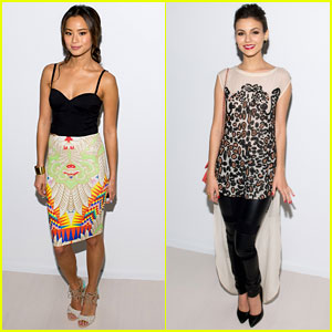 Jamie Chung & Victoria Justice: Front Row Buddies at Mara Hoffman Fashion Show!