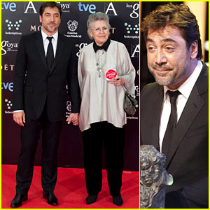 Javier Bardem Brings Mom Pilar as Date to Goya Awards 2014