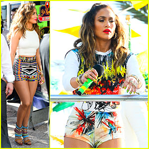 Jennifer Lopez Shoots Vibrant World Cup Music Video!