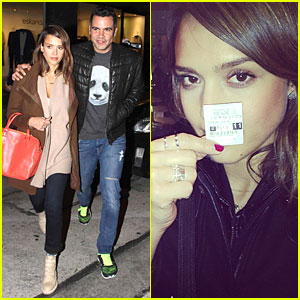 Jessica Alba Catches 'Ride Along' on Super Bowl Sunday!