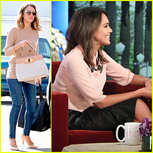 Jessica Alba Talks Cash Warren's Pajama Pizza Party on 'Ellen'!