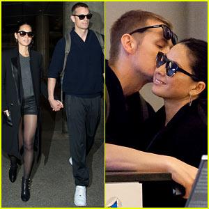 Joel Kinnaman Sneaks in a Kiss with Olivia Munn at LAX Airport