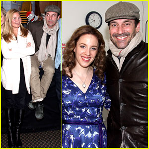 Jon Hamm Checks Out 'Beautiful' During Broadway Marathon!