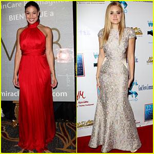 Jordin Sparks & AJ Michalka: Movieguide Awards Gala 2014
