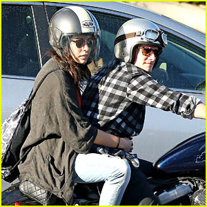 Josh Hutcherson Goes for a Motorcycle Ride with a Gal Pal!
