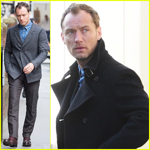 Jude Law Begins Filming Unknown Production in London!