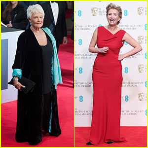 Judi Dench & Emma Thompson: 2014 BAFTAs Red Carpet