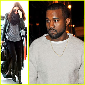 Kanye West Roams Around Paris While Kendall Jenner Flies In