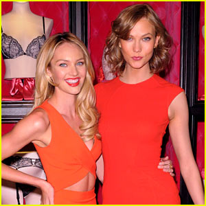 Karlie Kloss & Candice Swanepoel: Victoria's Secret Bombshell Day Celebration!