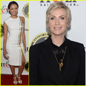 Kat Graham & Jane Lynch: Make-Up Artists & Hair Stylists Guild Awards 2014