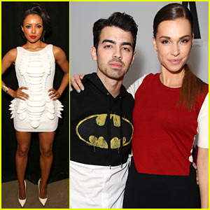 Kat Graham & Joe Jonas Show Their Support at Blonds NYFW Show