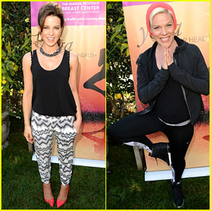 Kate Beckinsale Hosts Yoga Fundraiser, Pink Proves She's a Yogi!