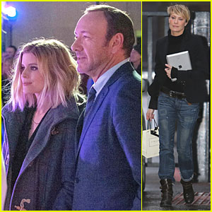 Kate Mara & Kevin Spacey: 'House of Cards' Promo in London!