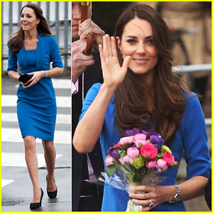 Kate Middleton Opens the ICAP Art Room on Valentine's Day!