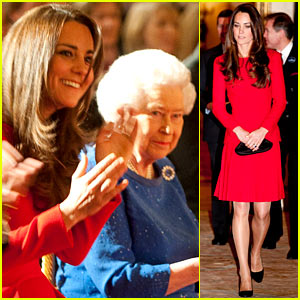 Kate Middleton Recycles Red Alexander McQueen Dress for Dramatic Arts Reception