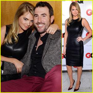 Kate Upton & Boyfriend Justin Verlander: GQ Super Bowl Party Sweeties!