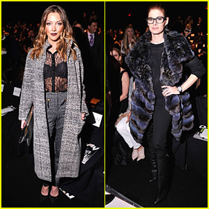 Katie Cassidy & Debra Messing: Dennis Basso Fashion Show!