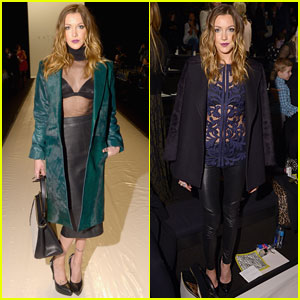 Katie Cassidy: Front Row at Katya Zol & Lela Rose Shows
