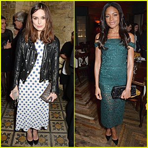 Keira Knightley & Naomie Harris: BAFTA Nominee Dinner Babes!