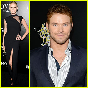 Kellan Lutz & Anne V: Hollywood Domino Gala 2014!