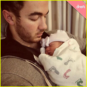 Kevin Jonas Cradles Baby Alena - First Daddy & Daughter Pic!