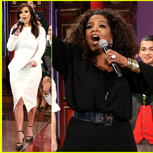 Kim Kardashian & Oprah Sing for Jay Leno at His Final Show!