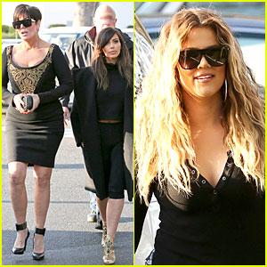 Kim Kardashian: Restaurant Filming with Mom Kris Jenner & Sister Khloe!