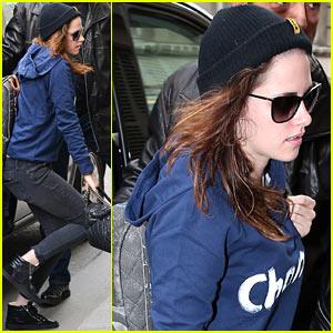 Kristen Stewart Meets Up with Karl Lagerfeld in Paris