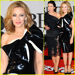 Kylie Minogue: BRIT Awards 2014 with Sister Dannii Minogue!