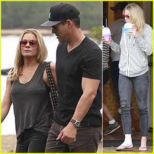 LeAnn Rimes Sports Foot Bandage for Hawaiian Lunch with Eddie Cibrian!