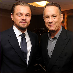 Photo of Tom Hanks & his friend actor  Leonardo DiCaprio - At the work