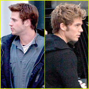 Liam Hemsworth & Sam Claflin Continue 'Mockingjay' Filming!