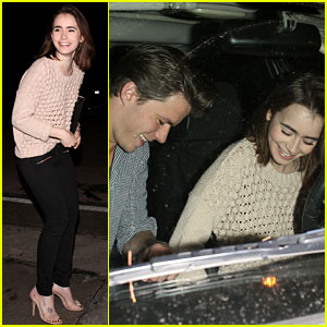 Lily Collins & Rumored Boyfriend Thomas Cocquerel: Dinner Date at