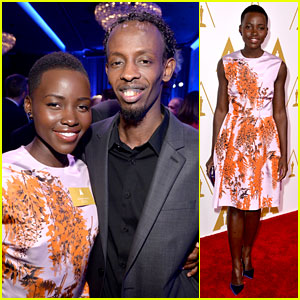 Lupita Nyong'o & Barkhad Abdi - Oscars Nominees Luncheon 2014