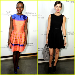 Lupita Nyong'o & Camilla Belle Watch the Dalai Lama Speak!