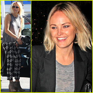 Malin Akerman Shows Off Sebastian's Cool New Car Seat!