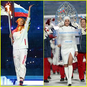 Maria Sharapova & Irina Shayk: Sochi Olympics 2014 Opening Ceremony!